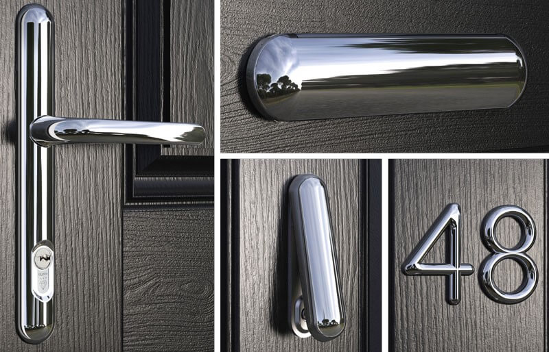 We offer many different styles of hardware, to compliment your doors.
