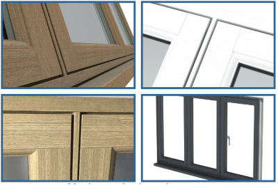 Flush sash windows in a range of colours and finishes